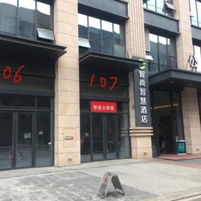 出租望城区普瑞大道城市时光商业广场1楼毛商铺106-107号